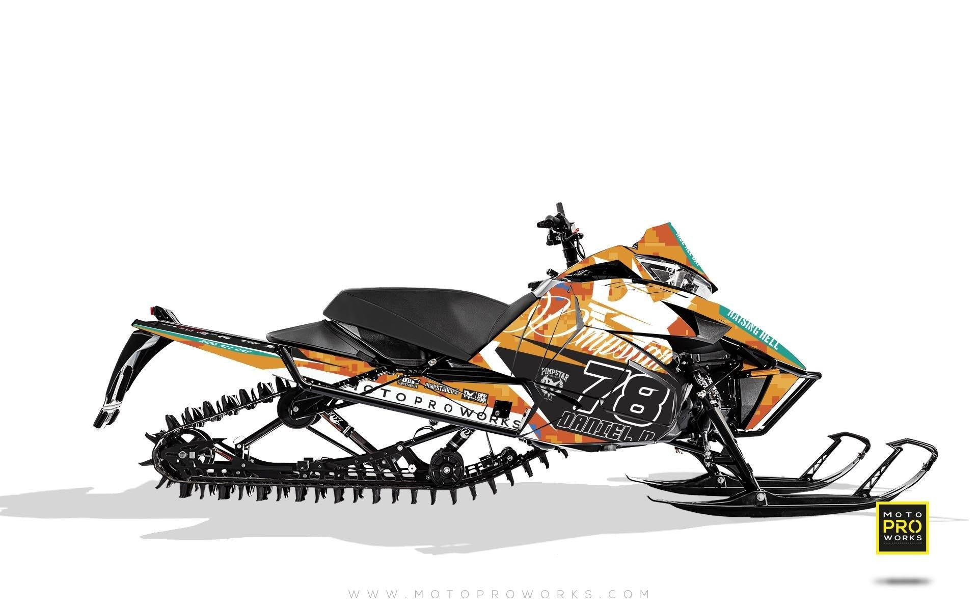 "Arctic Cat Graphics - ""Marpat"" (orange) - MotoProWorks 