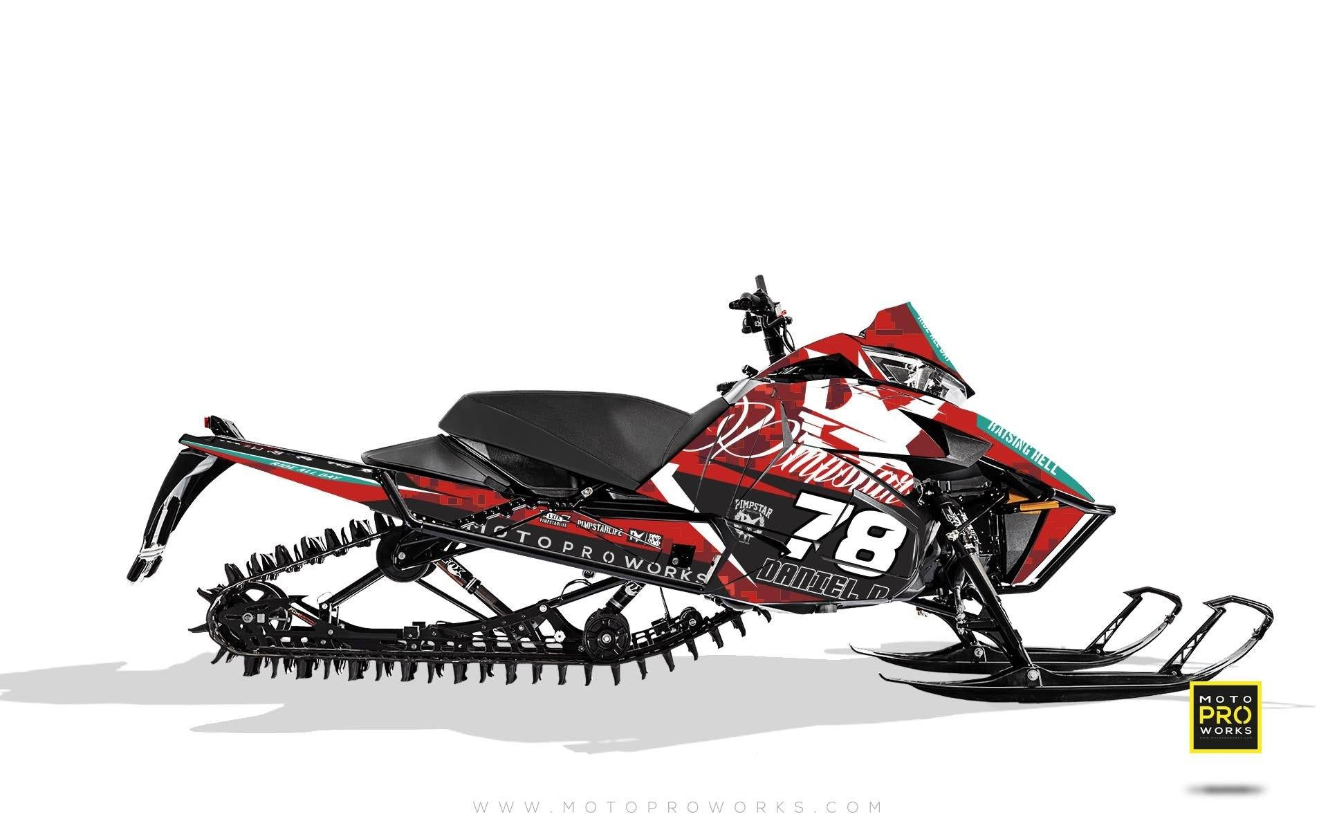 "Arctic Cat Graphics - ""Marpat"" (red) - MotoProWorks 