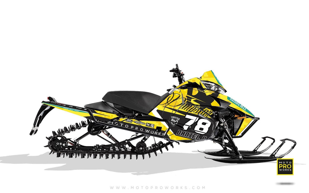 "Arctic Cat Graphics - ""Marpat"" (yellow) - MotoProWorks 