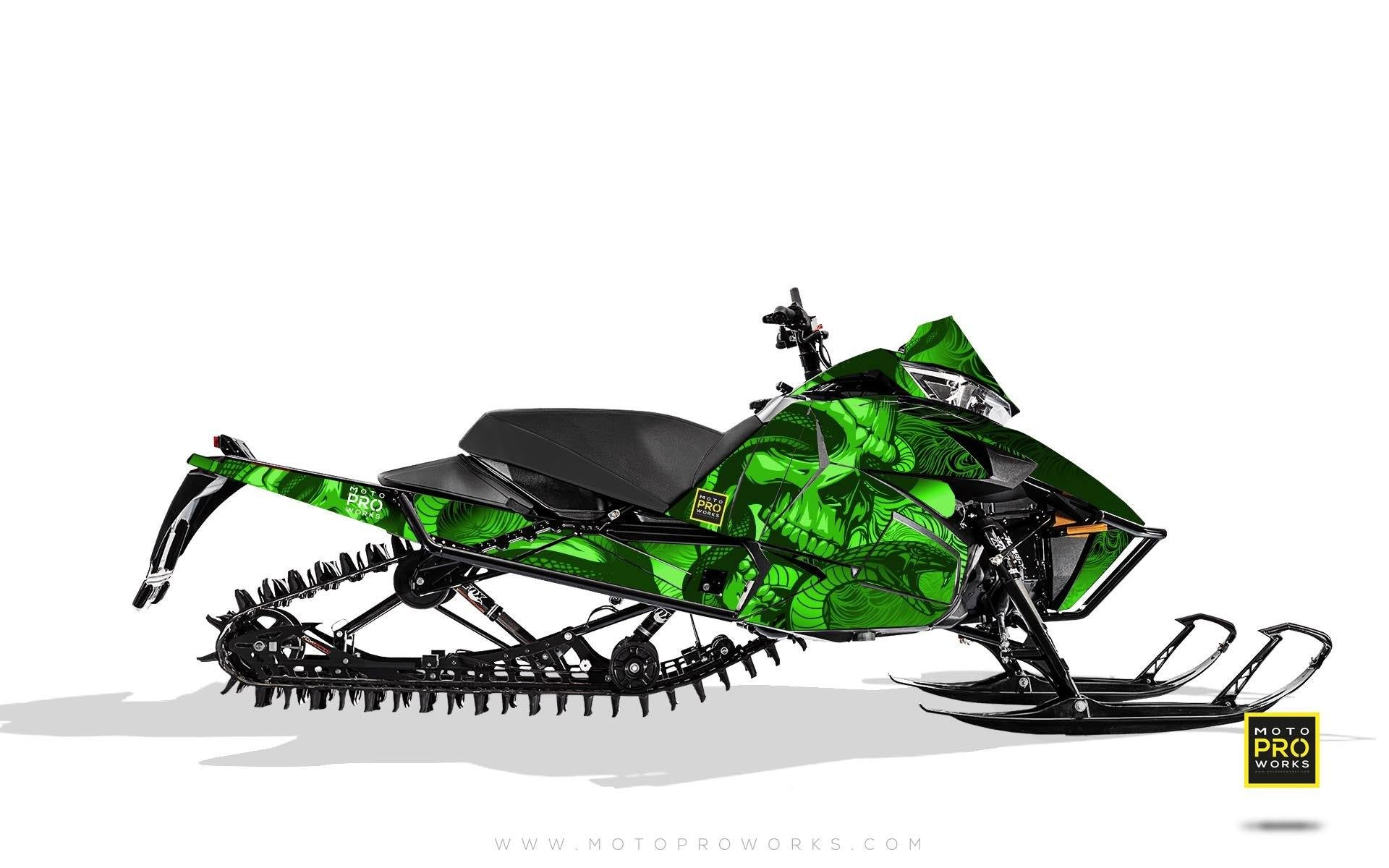 "Arctic Cat Graphics - ""Ssskully"" (green) - MotoProWorks 