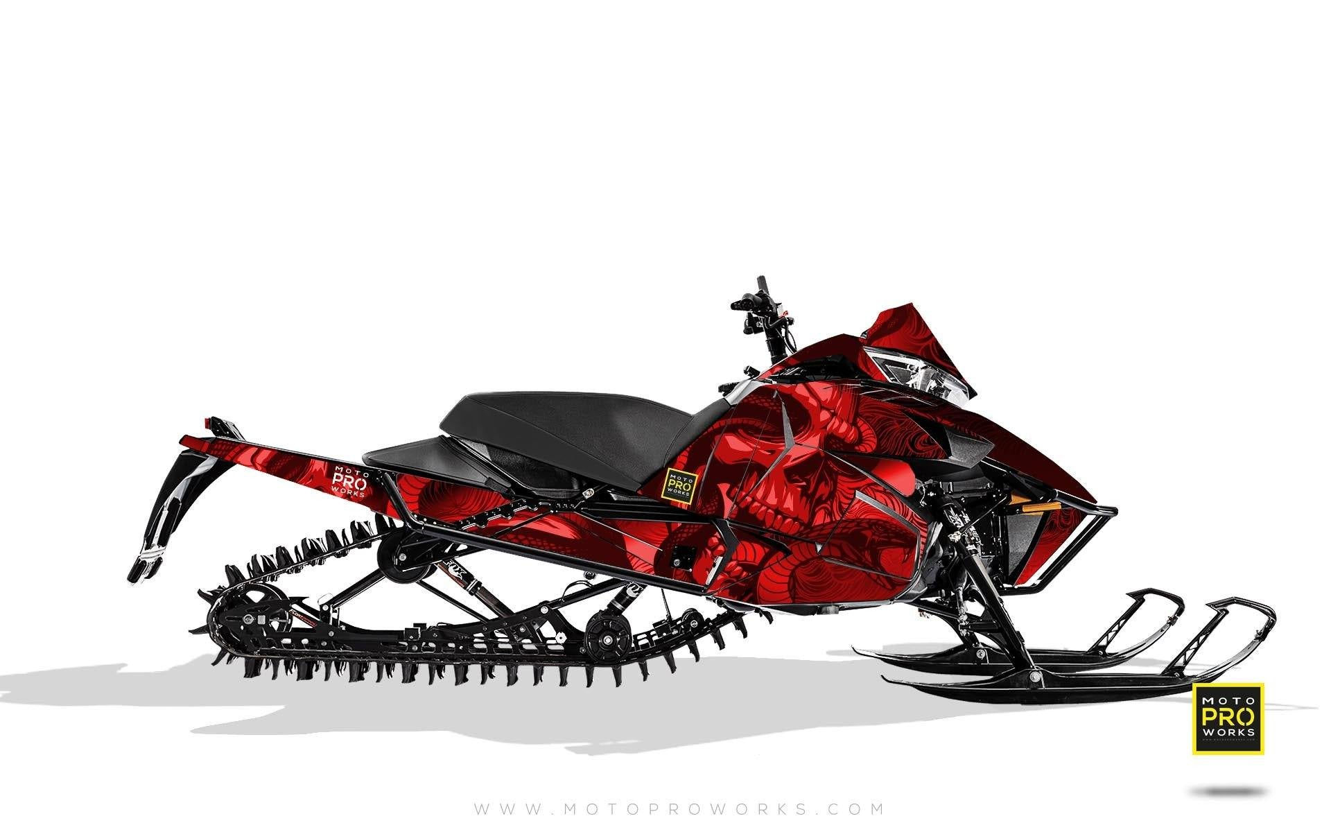 "Arctic Cat Graphics - ""Ssskully"" (red) - MotoProWorks 