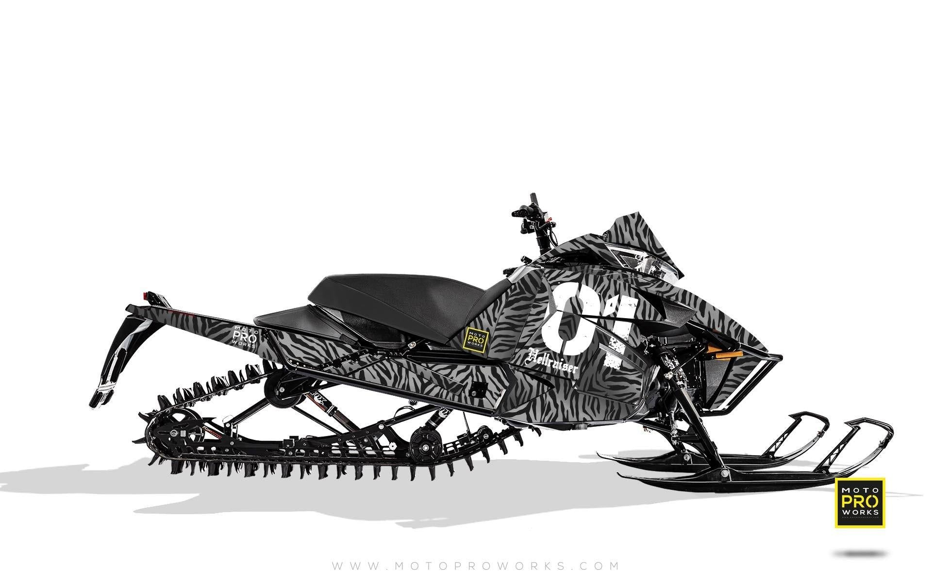 "Arctic Cat Graphics - ""Stripey"" (grey) - MotoProWorks 