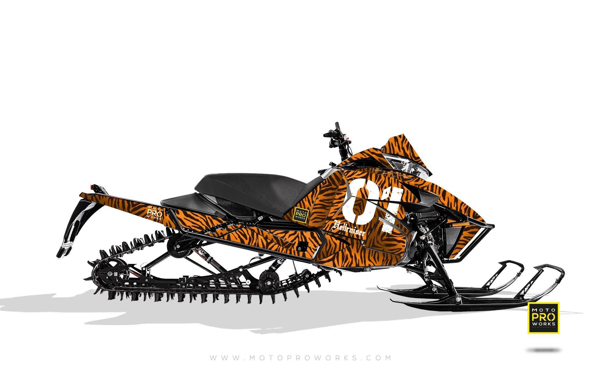"Arctic Cat Graphics - ""Stripey"" (orange) - MotoProWorks 
