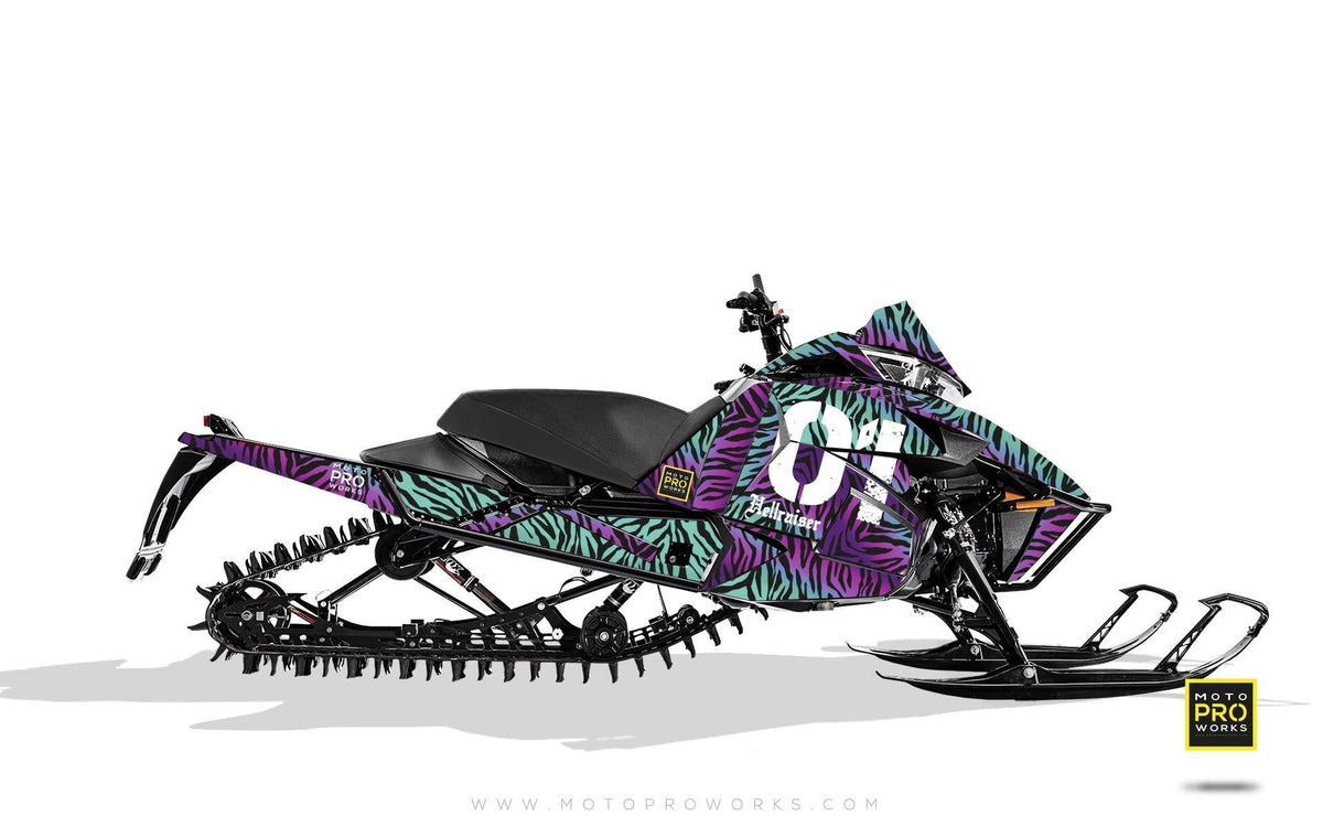 "Arctic Cat Graphics - ""Stripey"" (purple) - MotoProWorks 