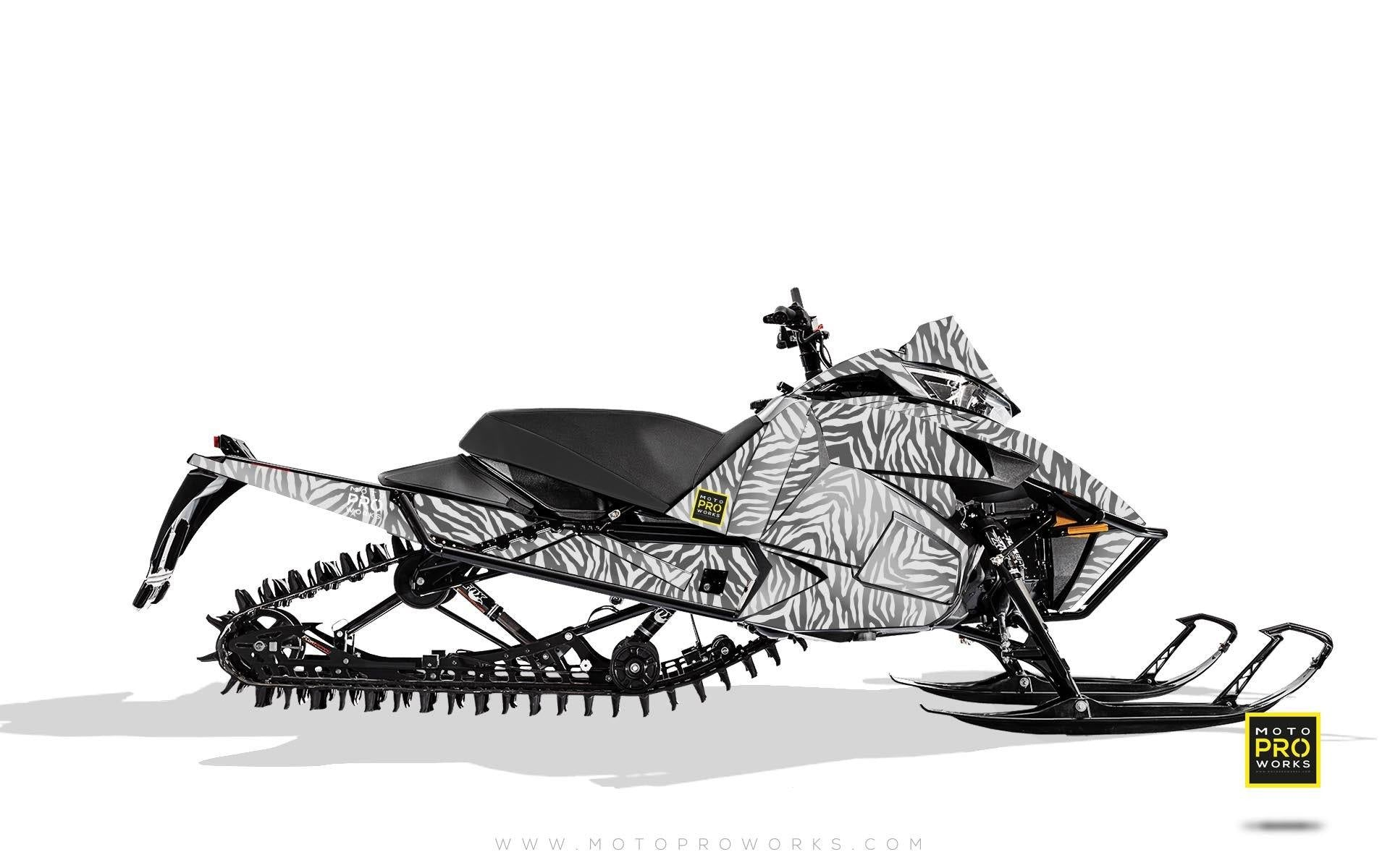 "Arctic Cat Graphics - ""Stripey"" (white) - MotoProWorks 