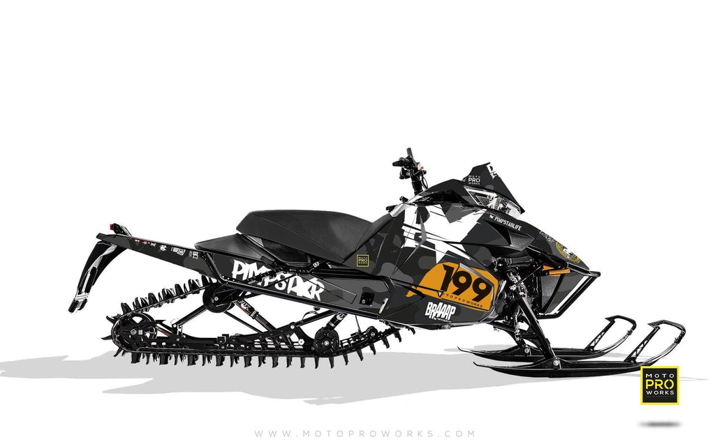"Arctic Cat Graphics - ""Wildcamo"" (black) - MotoProWorks 