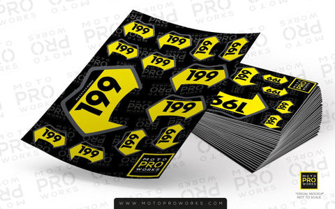 "Custom Multiple ID Sticker Sheet - ""Mini Badges"" - MotoProWorks 