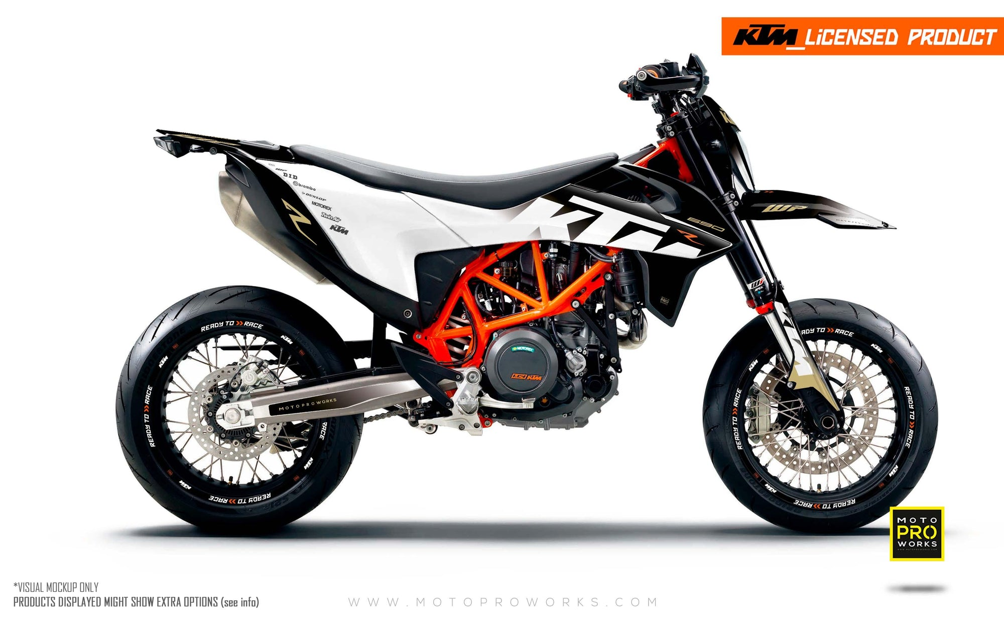 "KTM GRAPHIC KIT - ""Ghost"" (Gold)"