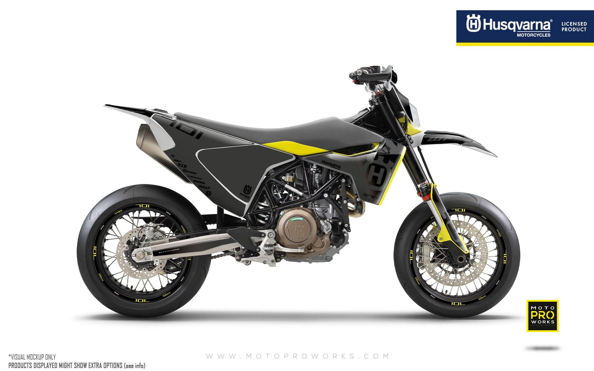 "Husqvarna 701 GRAPHIC KIT - ""Ghost"" (Grey/Black)"