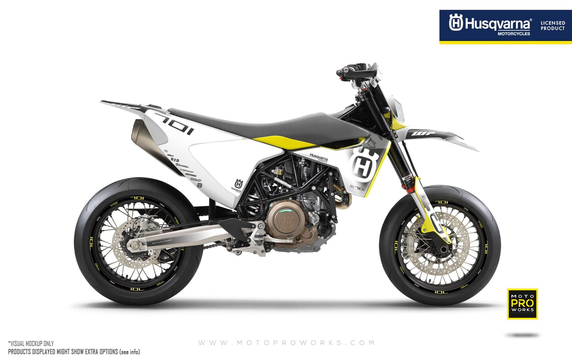 "Husqvarna 701 GRAPHIC KIT - ""Ghost"" (White/Black)"