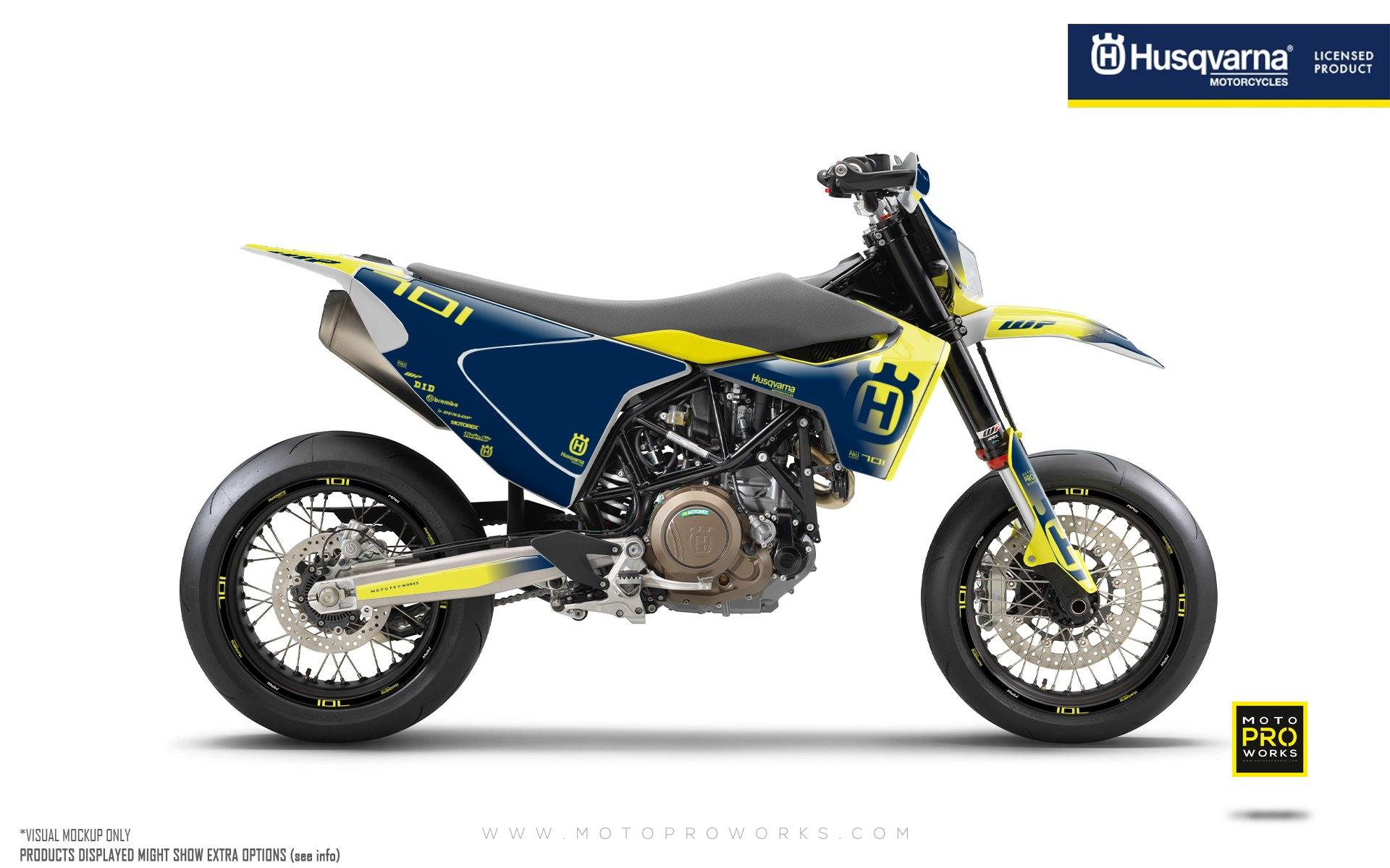 "Husqvarna 701 GRAPHIC KIT - ""Ghost"" (Yellow/Blue)"