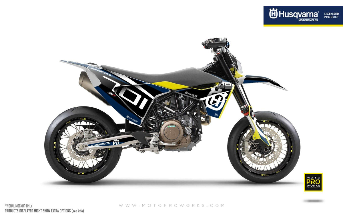 "Husqvarna 701 GRAPHIC KIT - ""MarkSeven"" (Blue)"