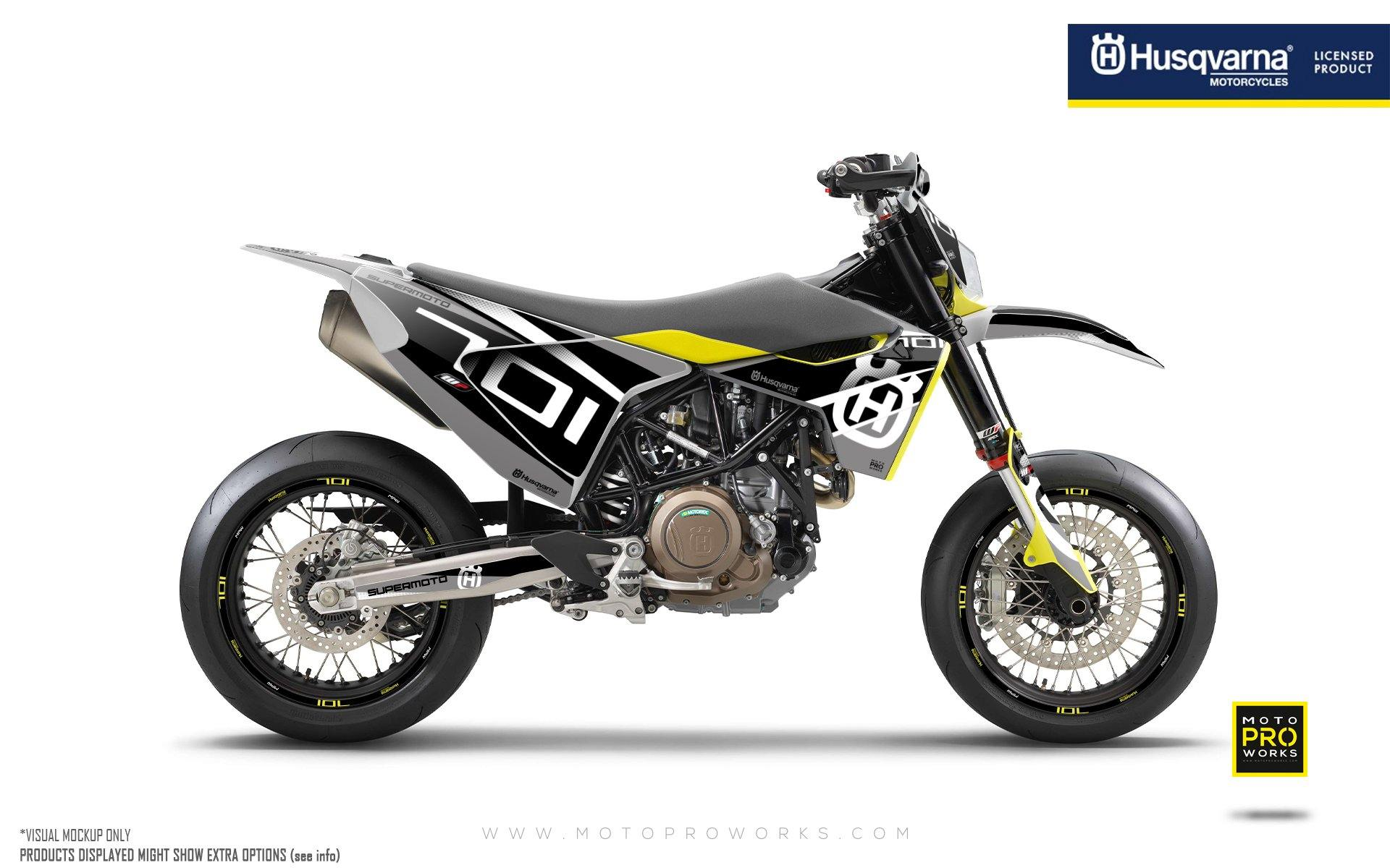 "Husqvarna 701 GRAPHIC KIT - ""MarkSeven"" (Grey)"