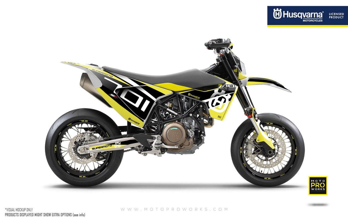 "Husqvarna 701 GRAPHIC KIT - ""MarkSeven"" (Yellow)"