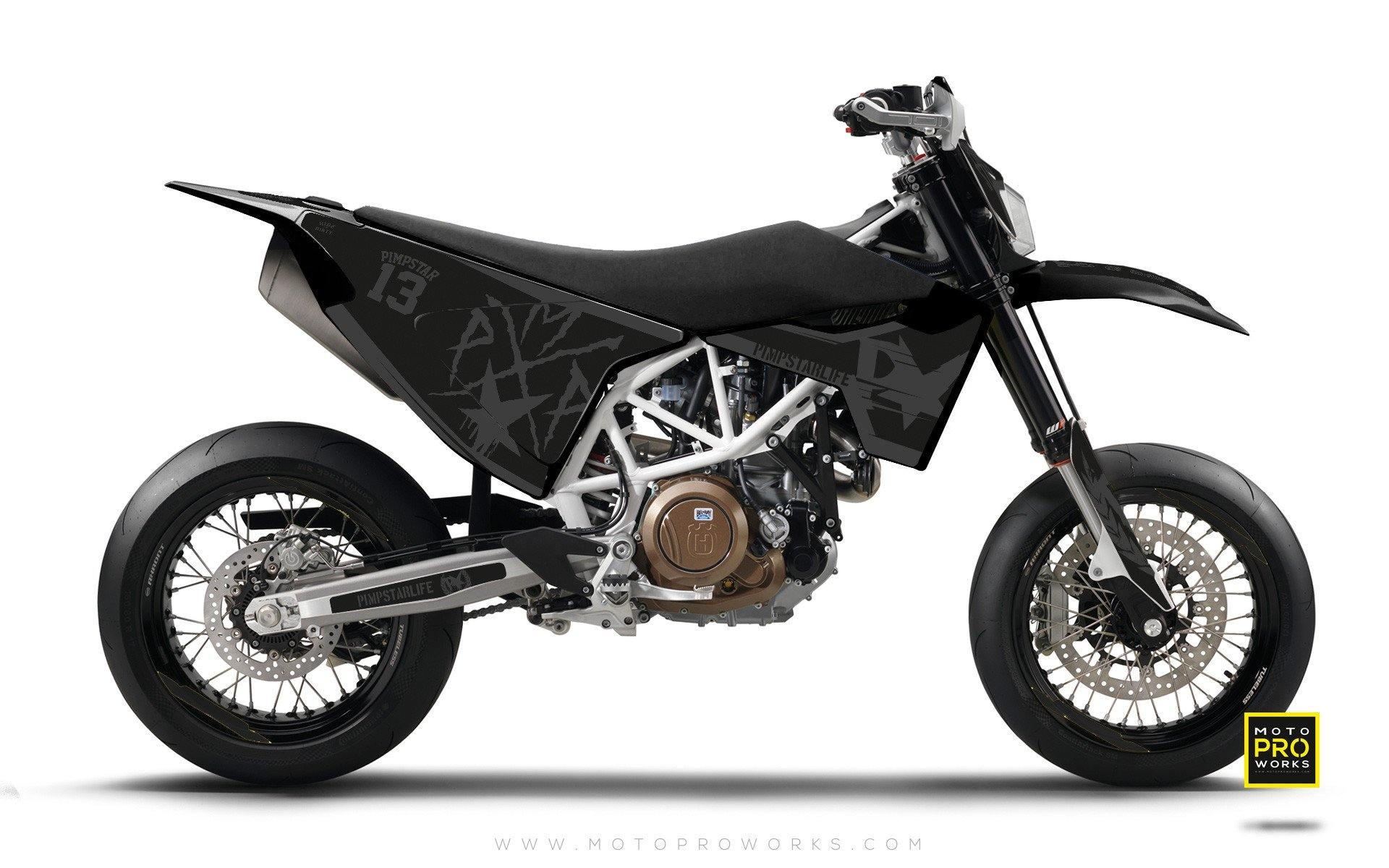 "Husqvarna GRAPHIC KIT - ""BATTLESCAR"" (dark) - MotoProWorks 