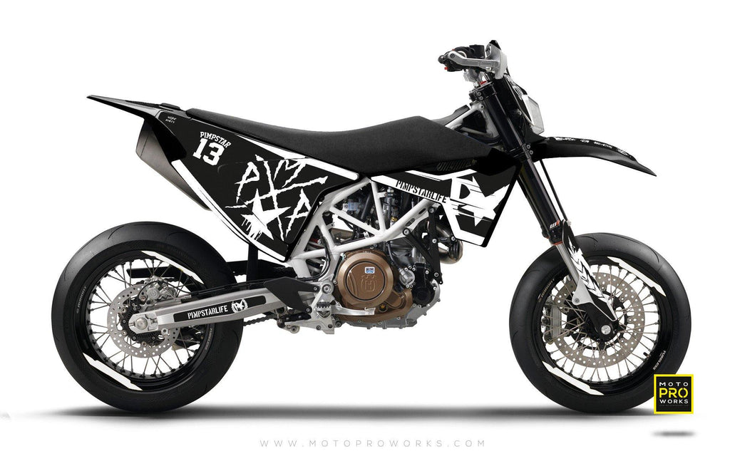 "Husqvarna 2017 GRAPHIC KIT - ""BATTLESCAR"" (light) - MotoProWorks 