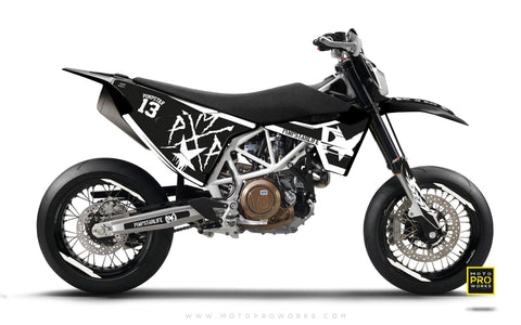 "Husqvarna 2017 GRAPHIC KIT - ""BATTLESCAR"" (light)"