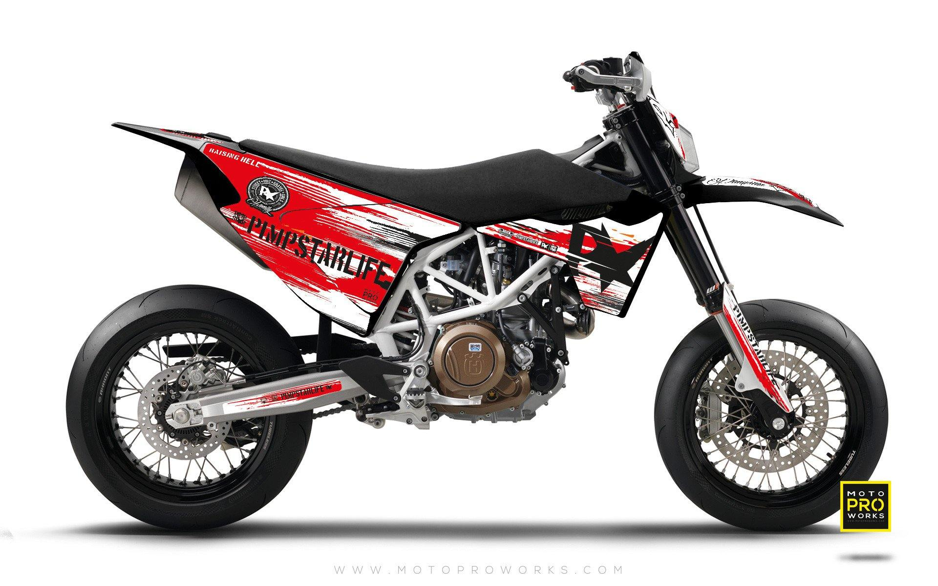 "Husqvarna GRAPHIC KIT - Pimpstarlife ""HELLION"" (red) - MotoProWorks 