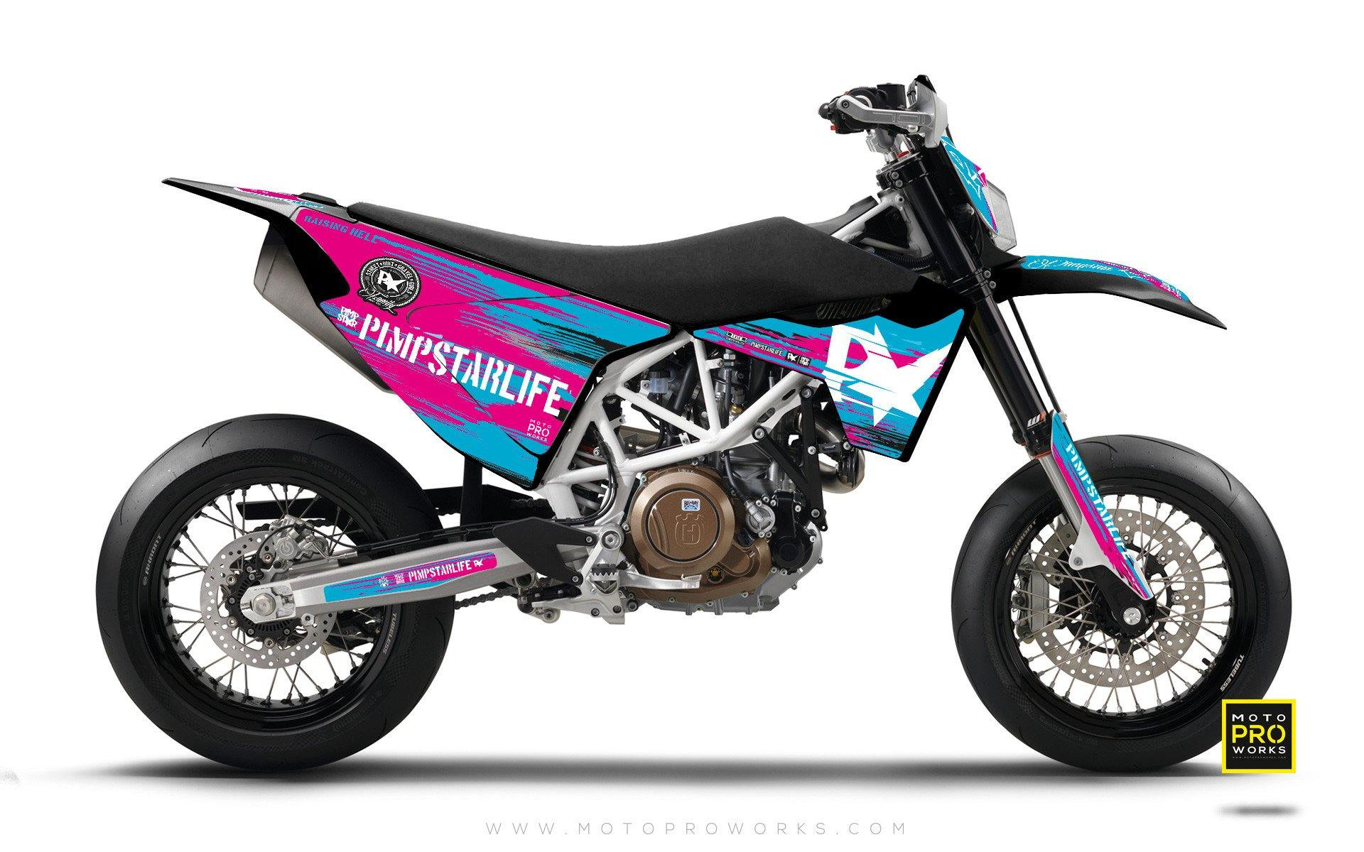 "Husqvarna GRAPHIC KIT - Pimpstarlife ""HELLION"" (turquoise) - MotoProWorks 