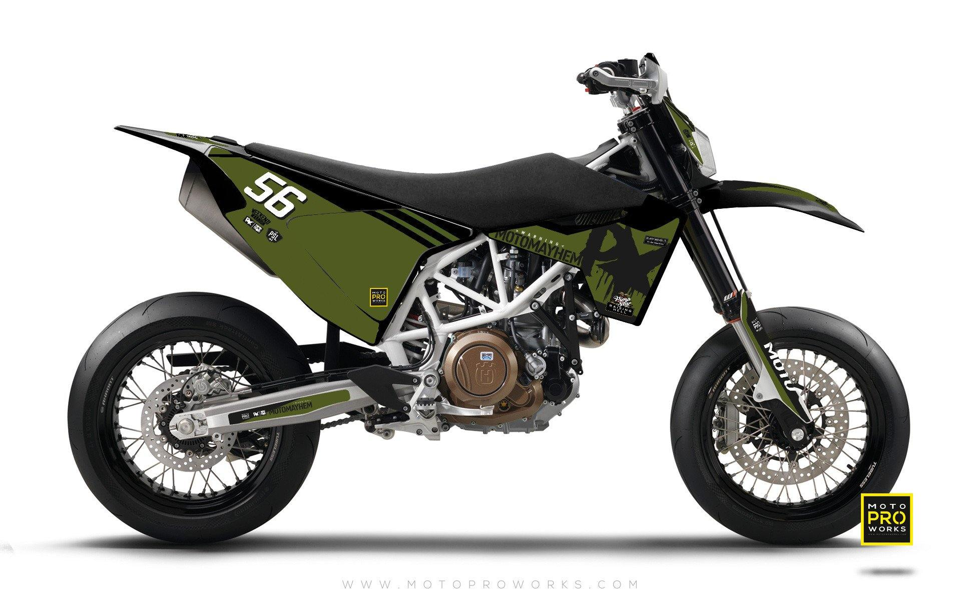 "Husqvarna GRAPHIC KIT - ""HOORAH"" (green) - MotoProWorks 