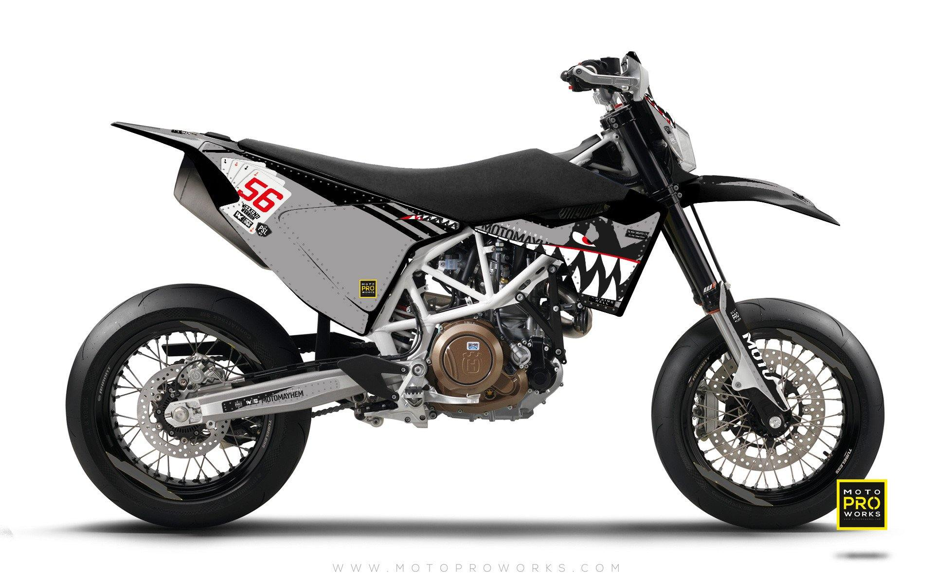 "Husqvarna GRAPHIC KIT - ""HOORAH"" (shark) - MotoProWorks 