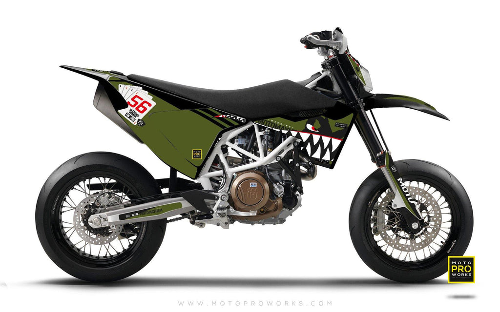"Husqvarna 2017 GRAPHIC KIT - ""HOORAH"" (tank) - MotoProWorks 