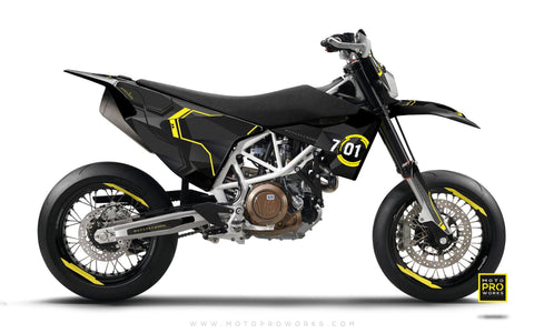 "Husqvarna 2017 GRAPHIC KIT - ""SCANNER"" (darkly) - MotoProWorks 