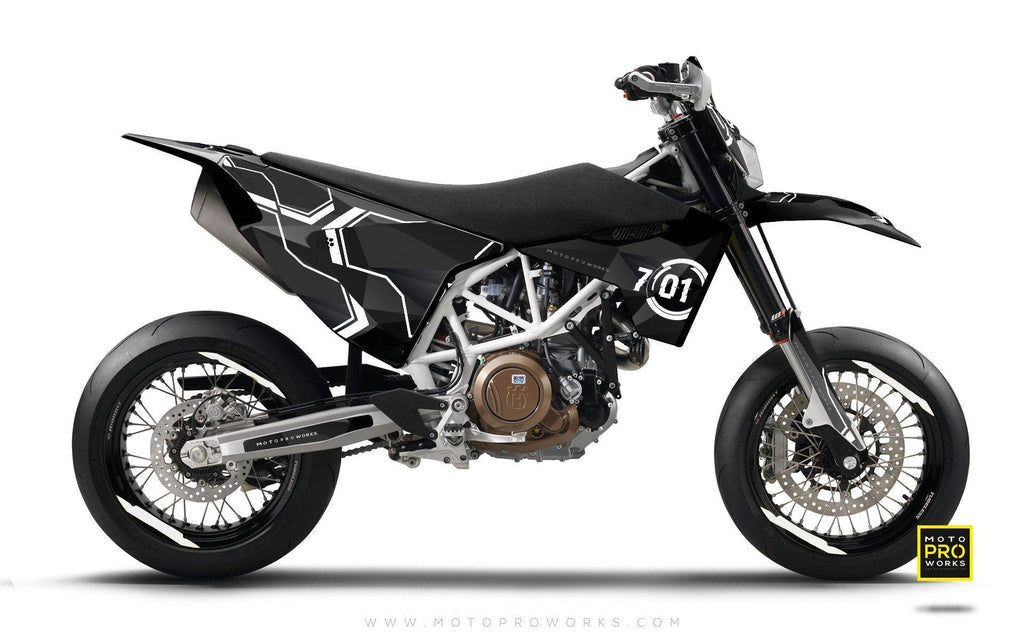 "Husqvarna 2017 GRAPHIC KIT - ""SCANNER"" - MotoProWorks 