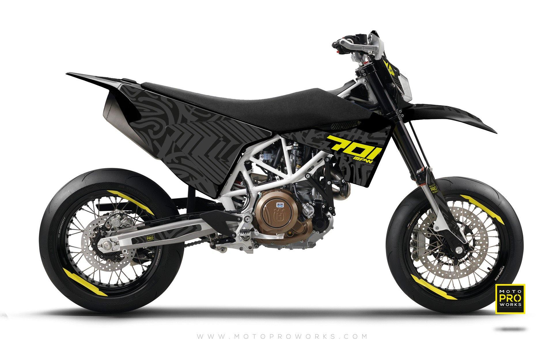 "Husqvarna GRAPHIC KIT - ""ZEBRA"" (black) - MotoProWorks 