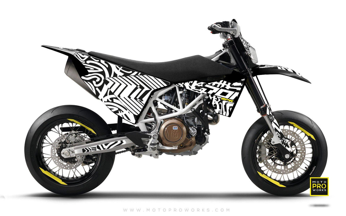 "Husqvarna GRAPHIC KIT - ""ZEBRA"" (white) - MotoProWorks 