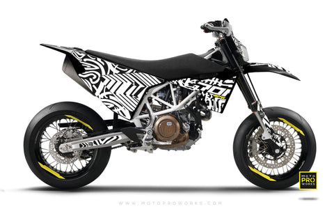 "Husqvarna 2017 GRAPHIC KIT - ""ZEBRA"" (white)"