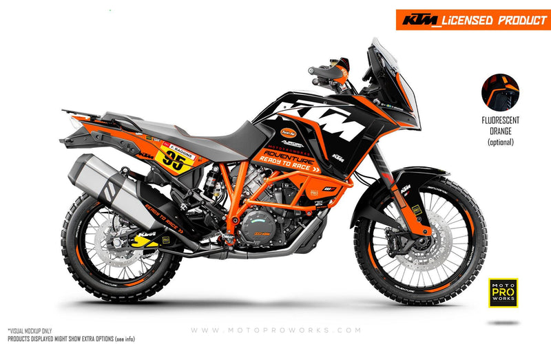 "KTM 1290 Adventure GRAPHIC KIT - ""Waypointer"" (Midnight)"