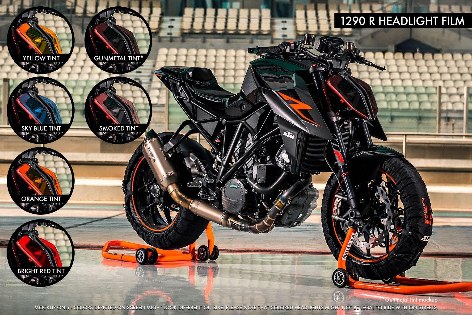 KTM 1290 Super Duke R (2017-2019) Premium Headlight tinted film
