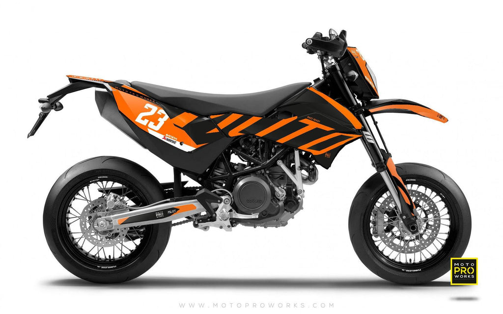 "2017 KTM GRAPHIC KIT - ""APEX"" (dark) - MotoProWorks 
