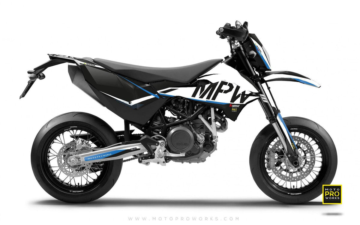"KTM GRAPHIC KIT - ""AVIX"" (blue) - MotoProWorks 