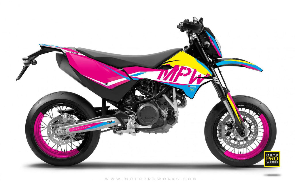 "2017 KTM GRAPHIC KIT - ""AVIX"" (cmyk) - MotoProWorks 
