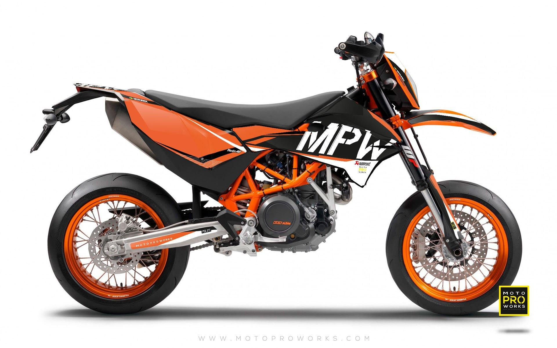 "KTM GRAPHIC KIT - ""AVIX"" (orange) - MotoProWorks 