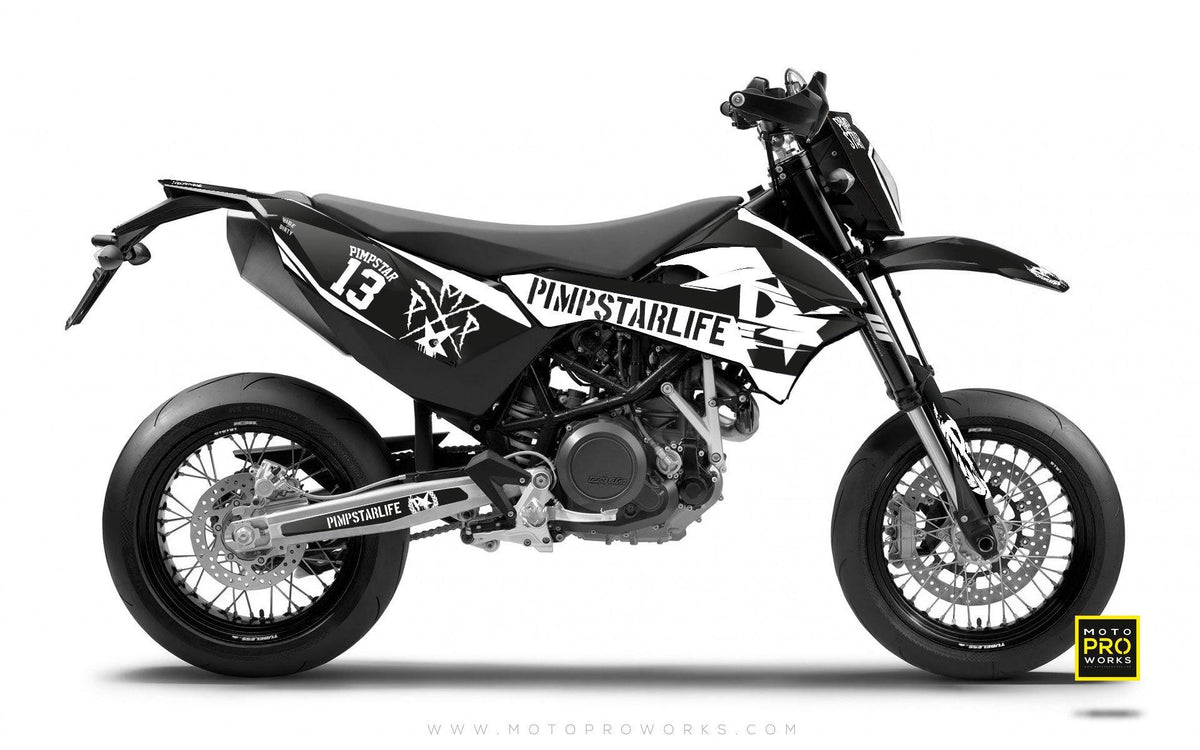 "KTM GRAPHIC KIT - Pimpstarlife ""BATTLESCAR"" (light) - MotoProWorks 