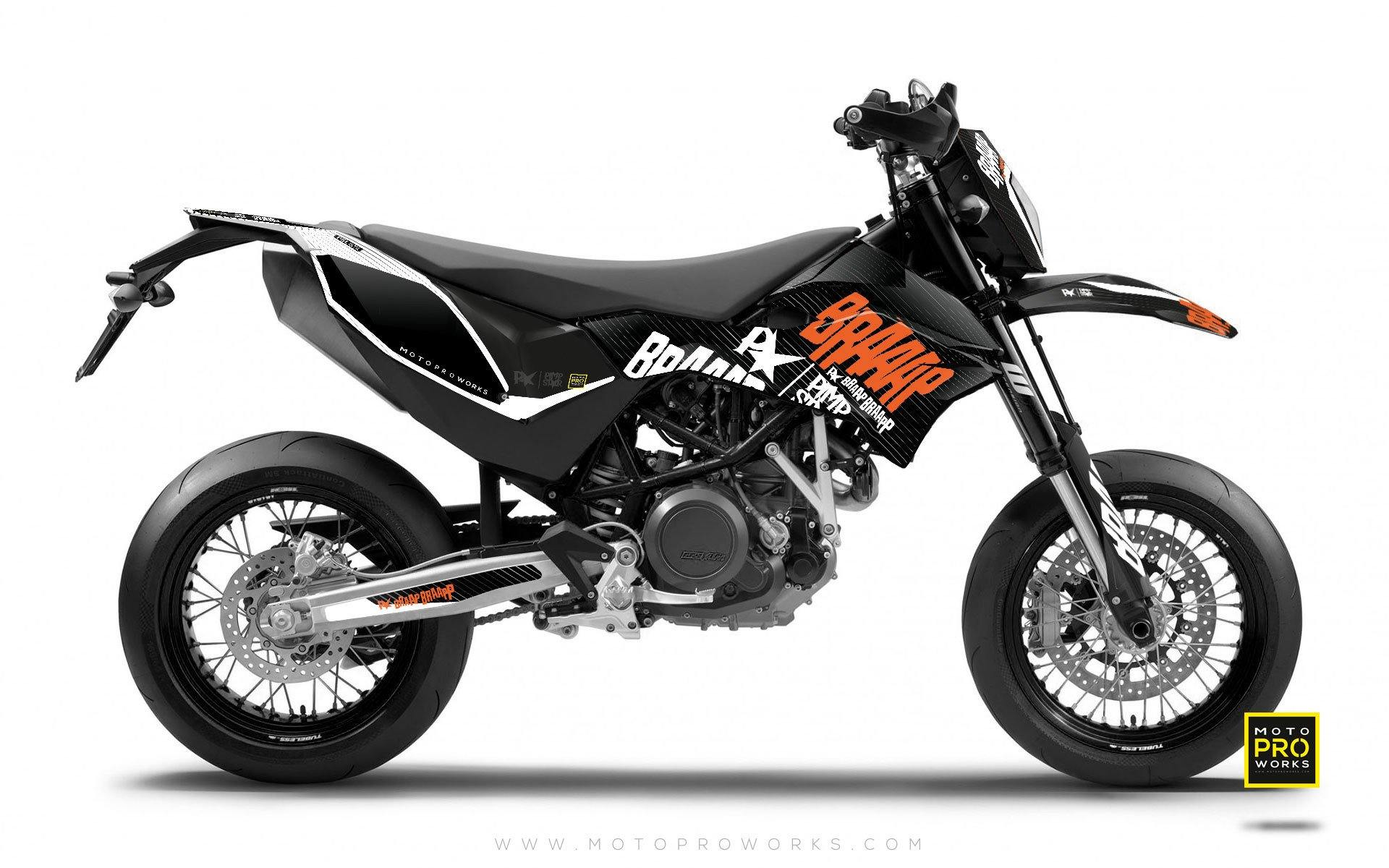 "KTM GRAPHIC KIT - Pimpstarlife ""BRAAAP"" (grey) - MotoProWorks 