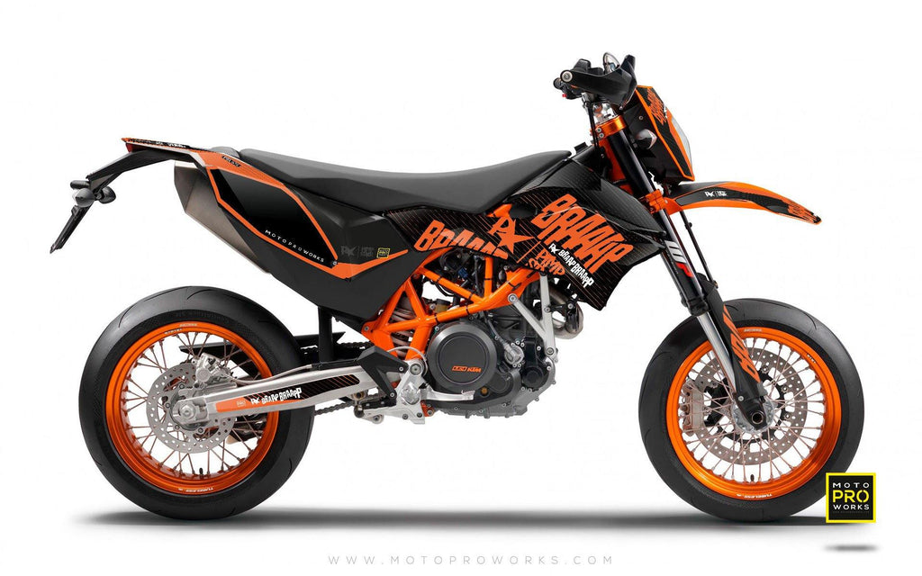 "KTM GRAPHIC KIT - Pimpstarlife ""BRAAAP"" (orange) - MotoProWorks 