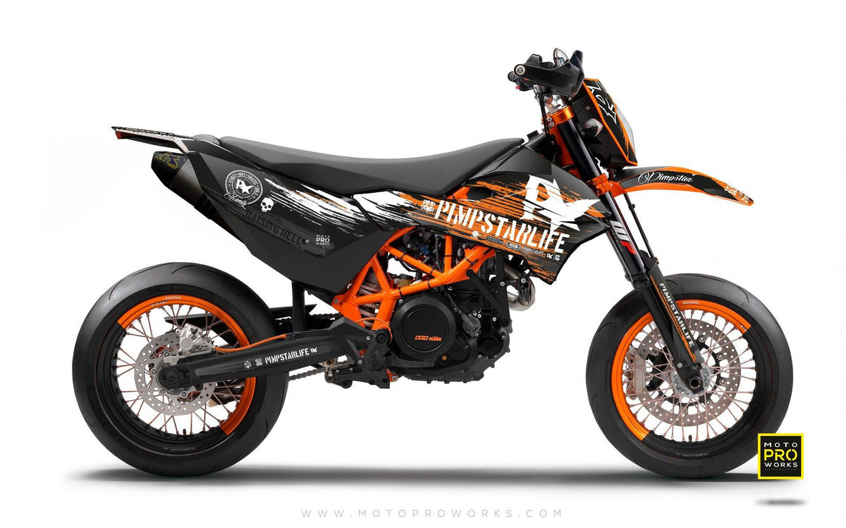"KTM GRAPHIC KIT - Pimpstarlife ""HELLION"" (orange) - MotoProWorks 