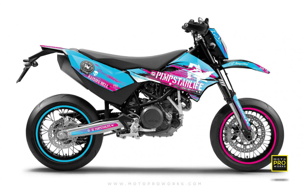 "2017 KTM GRAPHIC KIT - Pimpstarlife ""HELLION"" (pink) - MotoProWorks 