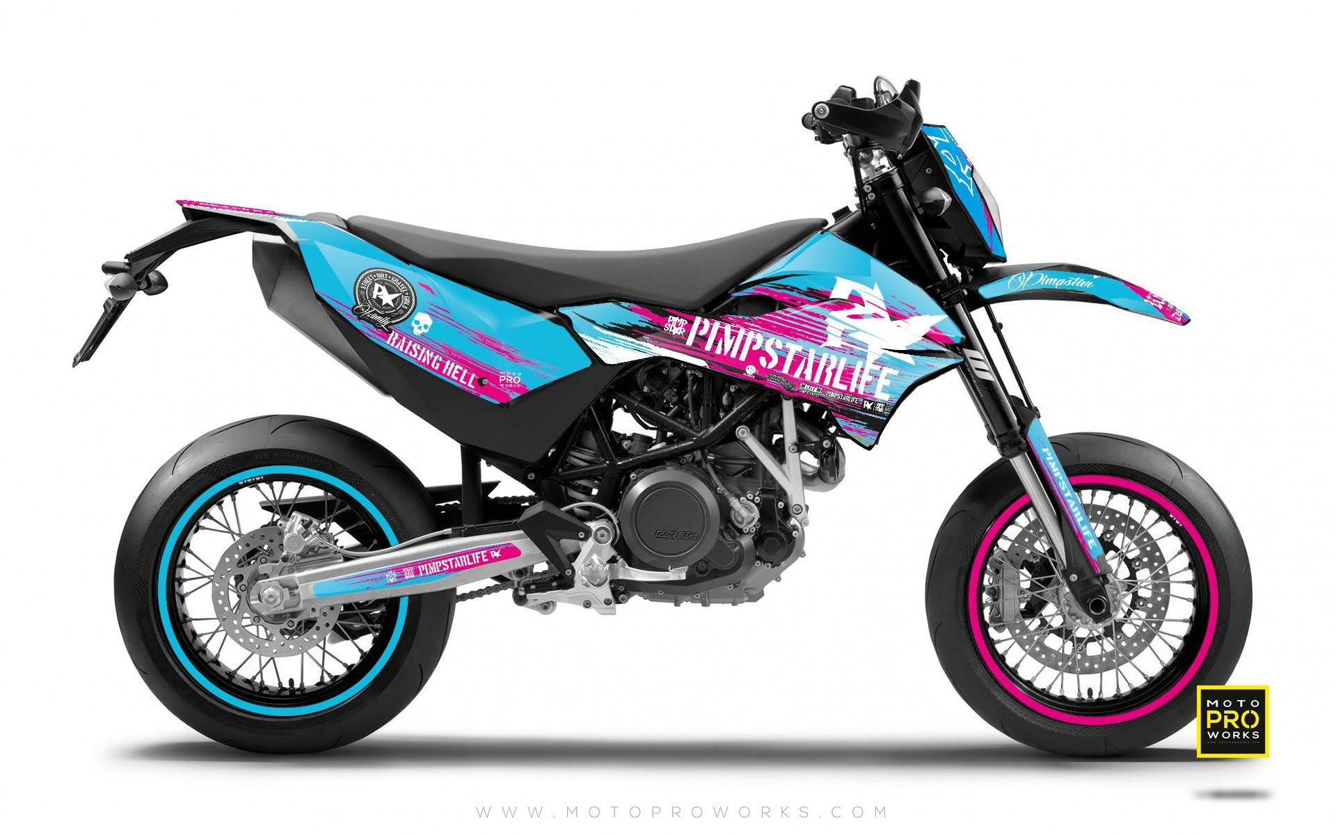 "KTM GRAPHIC KIT - Pimpstarlife ""HELLION"" (pink) - MotoProWorks 