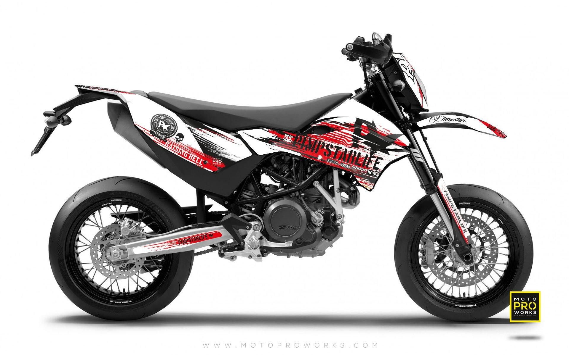 "KTM GRAPHIC KIT - Pimpstarlife ""HELLION"" (red) - MotoProWorks 