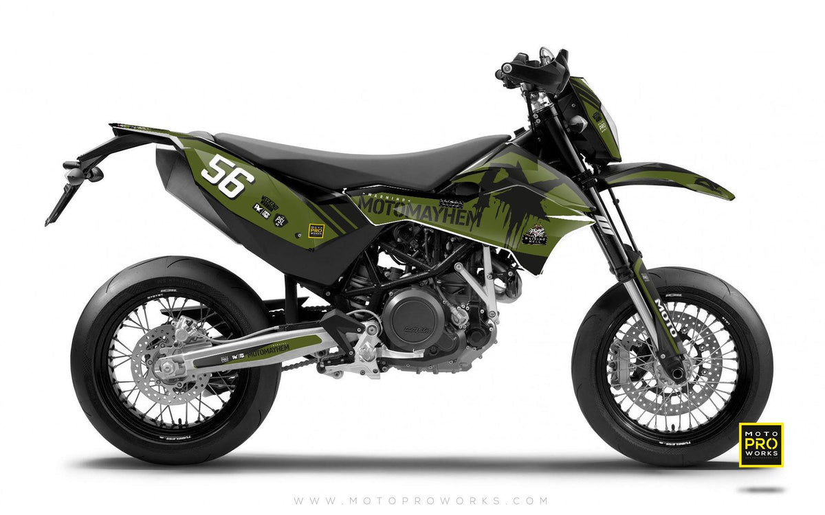 "KTM GRAPHIC KIT - Pimpstarlife ""HOORAH"" (green) - MotoProWorks 