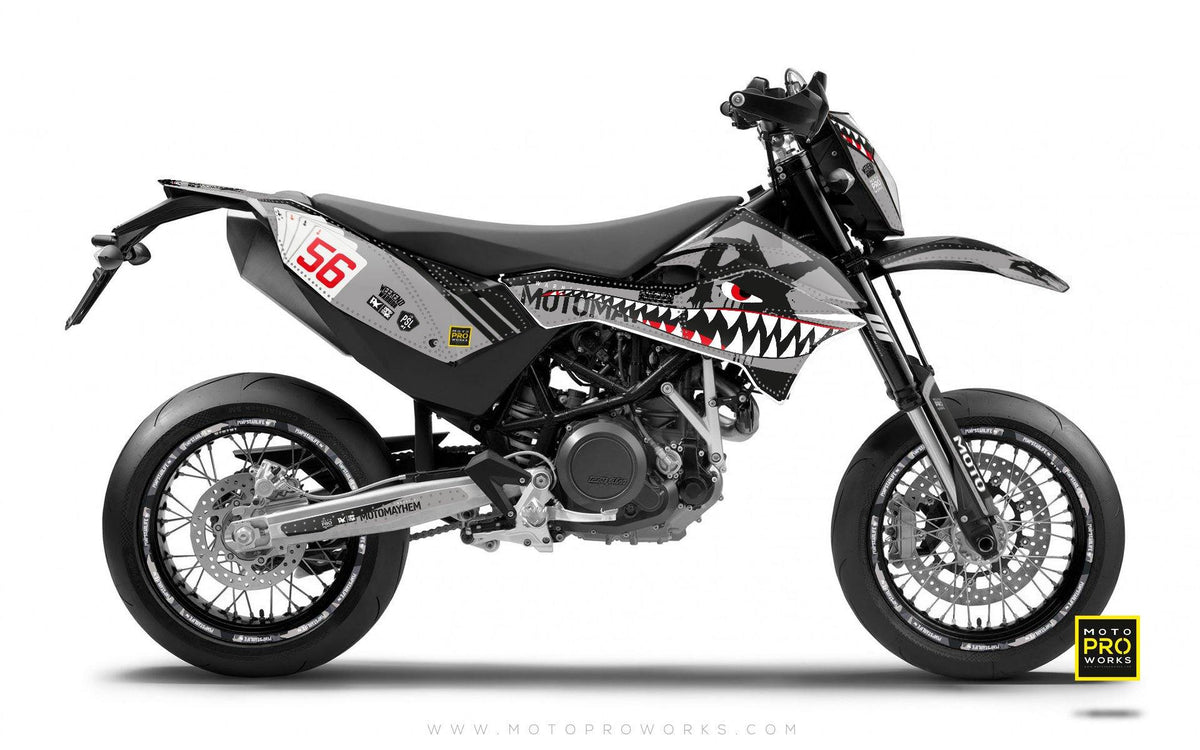 "KTM GRAPHIC KIT - Pimpstarlife ""HOORAH"" (shark) - MotoProWorks 