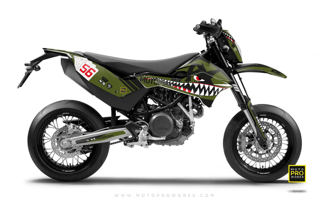 "KTM GRAPHIC KIT - Pimpstarlife ""HOORAH"" (tank) - MotoProWorks 