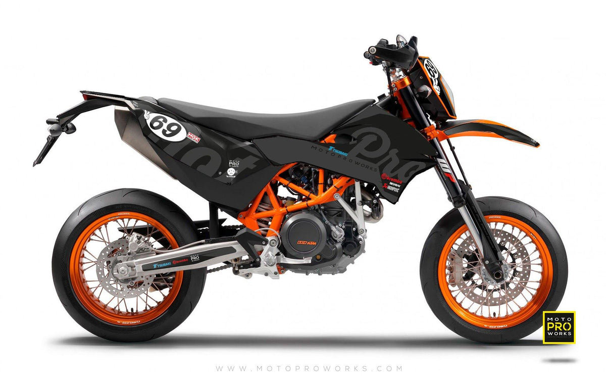 "KTM GRAPHIC KIT - ""MIDNIGHT"" (dark) - MotoProWorks 