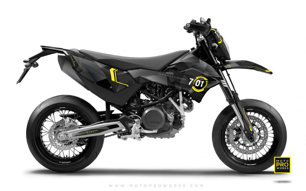 "KTM GRAPHIC KIT - ""SCANNER"" (darkly) - MotoProWorks 
