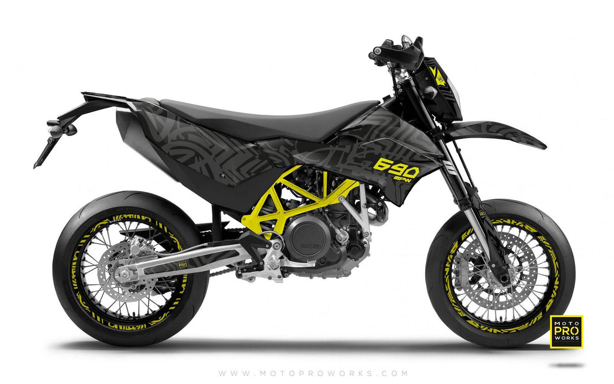 "KTM GRAPHIC KIT - ""ZEBRA"" (grey) - MotoProWorks 